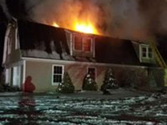 A fire engulfed a house on the 2000 block of Danby