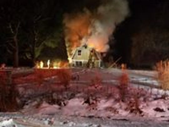 Several different fire departments in Tompkins County responded to a fire on Danby Road.
