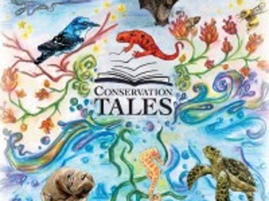 "Made in Muncie, 313 S. Walnut St., will have the art exhibit and book sale ""Conservation Tales: Bees and Salamanders with a sneak peak of Manatees, Sea Turtles, and Seahorses"" for First Thursday April 5, 2018."