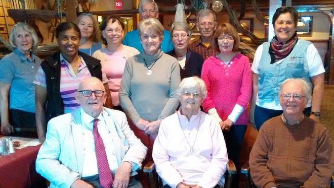 From left, front row, are: Franklin Williams, Elinor Williams, Tom Heberly; second row: Claudia Jones, Ellie Redding, Judy Benton, Sharon Forney; third row: Beverly Nace, Becky Orewiler, Muriel Myers; back row: Rebecca Shetter, Kevin O'Brien, Mike Staub. Missing are: Brenda Farley and Kathy Orewiler.