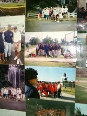 A collage of photos from C.J. Hendricks' baseball trips