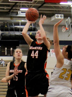 Jessica Savage was part of a Brighton effort that saw the Bulldogs run out to a 17-0 lead to start Wednesday's victory at Linden.