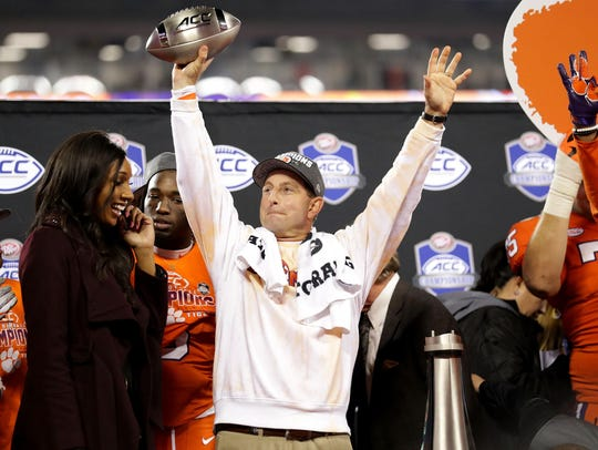 Dabo Swinney on Friday received a 10-year, $92-million contract to stay at Clemson.