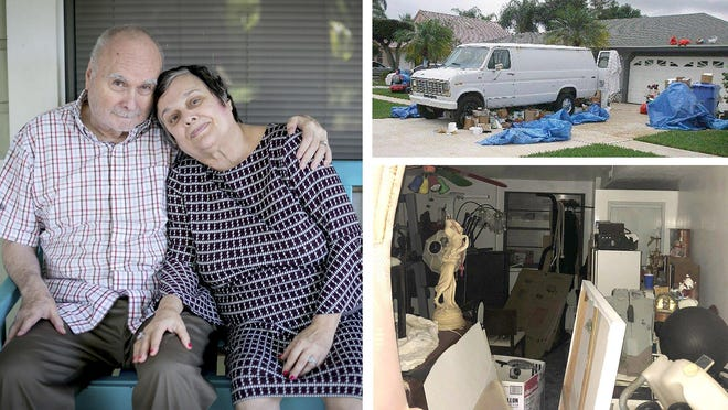 Ralph and Marguerite McCormack have been married for 52 years but they're in danger of losing their Royal Palm Beach home because of code violations and fines related to their hoarding disorders. Trash inside and outside the house led to complaints from neighbors and town officials for nearly a decade.