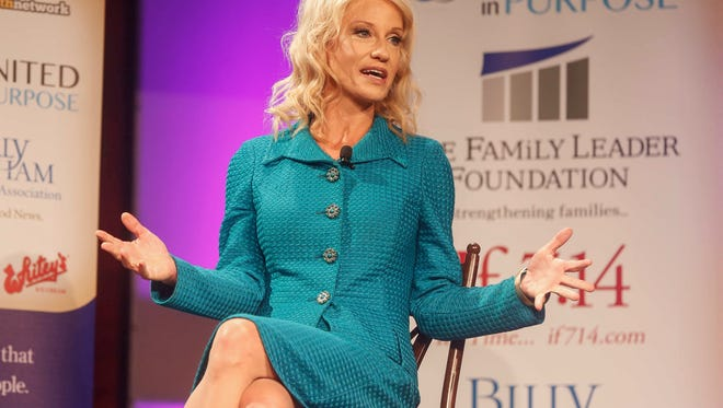 Kellyanne Conway, counselor to President Donald Trump, spoke during the Family Leadership Summit on Saturday, July 15, 2017, in Des Moines.