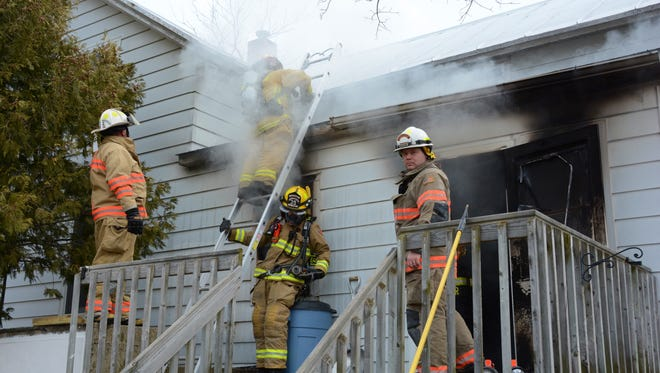 Door County firefighters left the funeral of former Baileys Harbor Assistant Fire Chief Willard Zak to fight a structure fire late Saturday morning. The home at the center of the emergency is owned by Baileys Harbor firefighter Thomas Pluff.