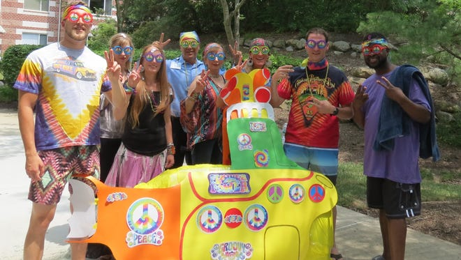 Seabrook employees get ready for Wacky Raft Race.