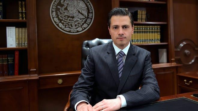 President of Mexico Enrique Peña Nieto during a television broadcast in Mexico City, Mexico, on Jan. 25, 2017.