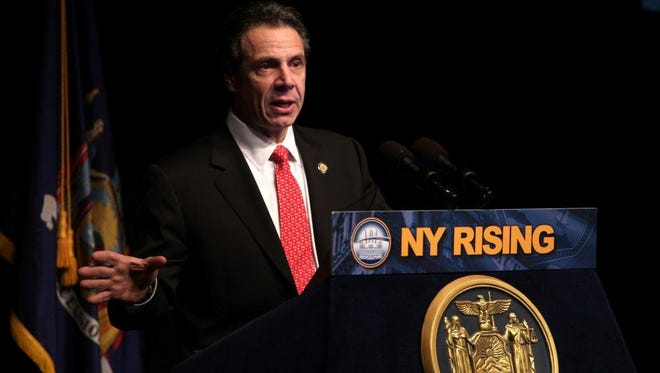 Gov. Andrew Cuomo at SUNY Purchase in March 2013.