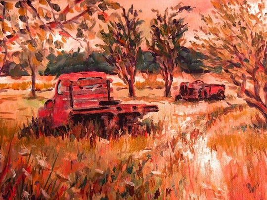 """""""Ray's Truck,"""" oil painting by Rick Risch, one of the"""