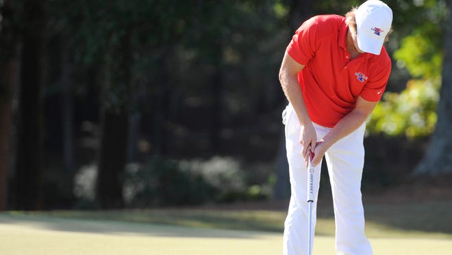 Louisiana Tech's Victor Lange is tied for 18th after the first round of the Conference USA golf championships.