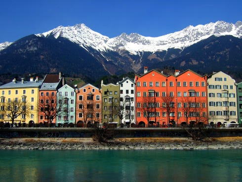 After hosting two Winter Olympics, Innsbruck has become one of the largest ski resorts in the Alps. Its colorful architecture makes it memorable for many visitors.