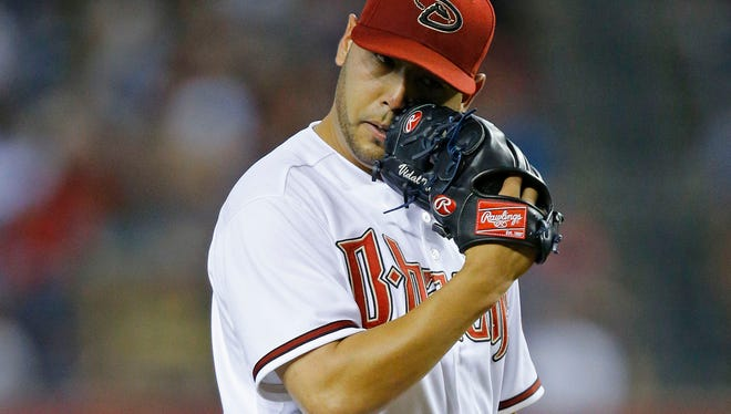 Arizona Diamondbacks pitcher Vidal Nuno was acquired in a trade that sent Brandon McCarthy to the New York Yankees.
