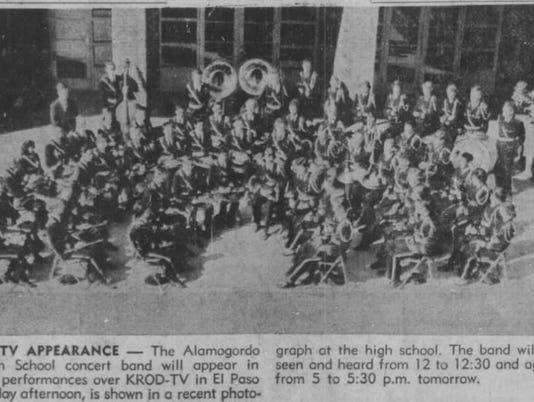 1954 ALAMOGORDO HIGH BAND