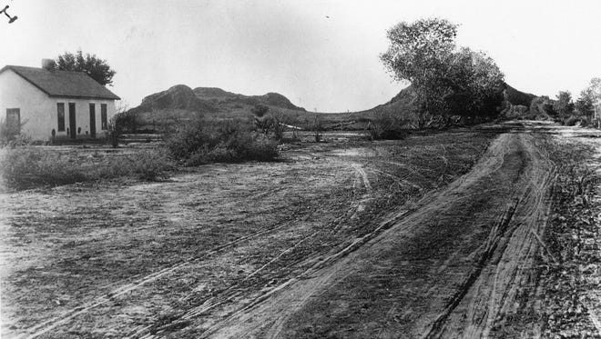 Broadway Road, at the scene of the Tom Graham shooting in Tempe, Arizona. The shooting was the final act in what became known as the Pleasant Valley War.