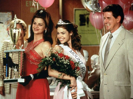 "Kirstie Alley, left to right, Denise Richards, and Sam McMurray in a scene from ""Drop Dead Gorgeous."""