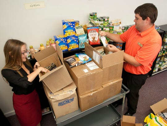 The on-campus food pantry at Southeastern Louisiana