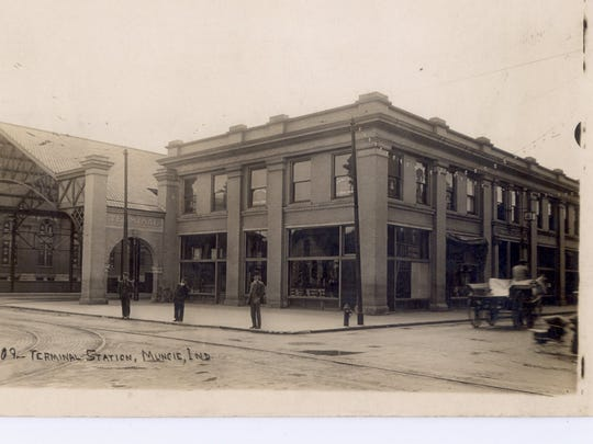 The Interurban Traction Station is shown in this postcard