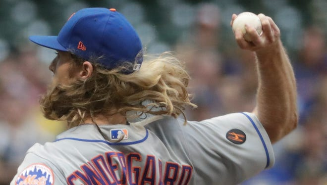 Mets right-hander Noah Syndergaard is going to test his right index finger strain in a start Sunday for Class A Brooklyn.