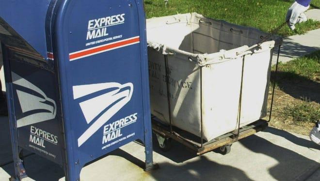 Postal mailboxes.