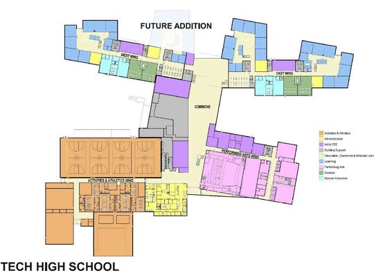 Concept plans for Tech High School will be finalized now that the first question on the referendum has passed.