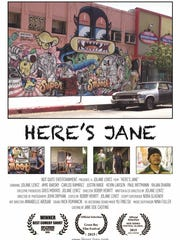 "The poster for ""Here's Jane."" Photo provided by JoLane Lentz."