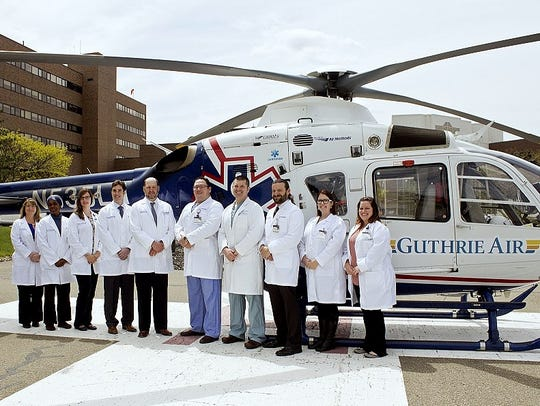 The trauma team at Guthrie's Robert Packer Hospital