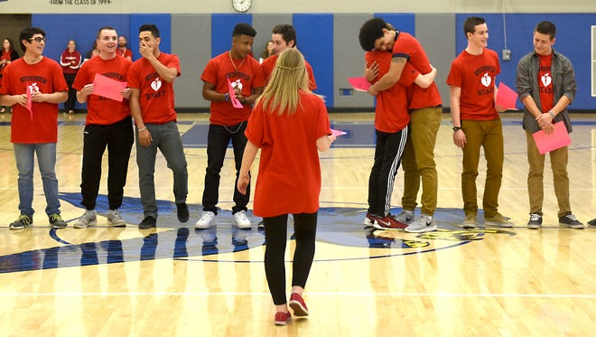 Before unveiling the record amount raised by Cedar Crest students for the American Heart Association students participated in games, including musical chairs, arm wrestling, as well an obsticle course.