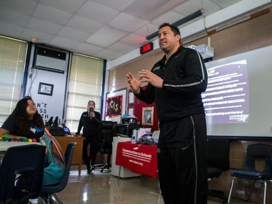 Lucid Love Director Sal Montelongo speaks to students