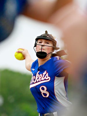 Spring Grove's Hailey Kessinger pitches against Garden Spot during District 3, Class 5-A softball action in Spring Grove, Tuesday, May 23, 2017. Spring Grove would win the game 6-1. Dawn J. Sagert photo