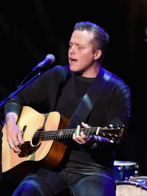 Jason Isbell performs with the 400 Unit at the Country Music Hall of Fame and Museum on December 12, 2017, in Nashville.