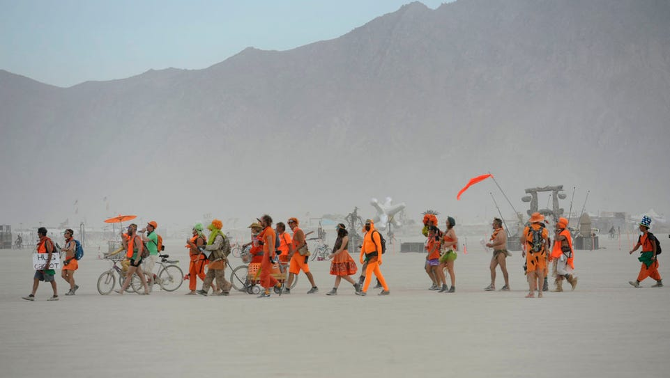 Images from the Billon Bunny March at Burning Man on