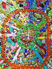 """""""Circus of Color and Shapes"""" is a prizewinning piece from the 16th Annual National Arts Program Art Exhibit for County of Union Employees, held last spring. More than 160 works are now on display for the 17th annual exhibit."""