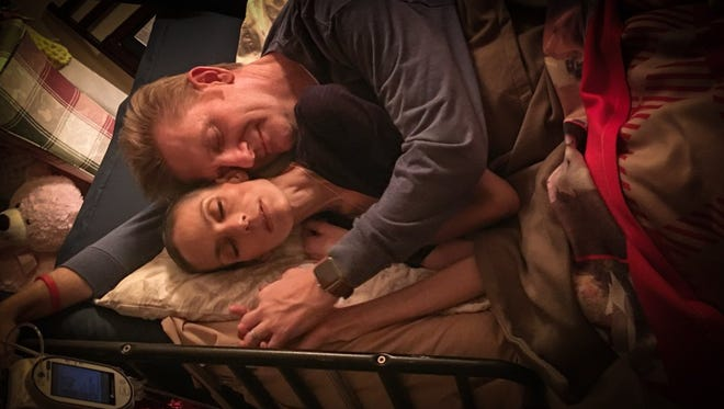 Rory Feek crawled in bed with his wife for the first time since November.
