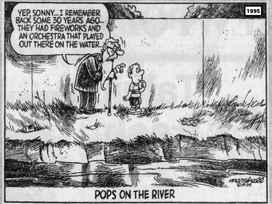 This 1995 Press & Sun-Bulletin editorial cartoon by