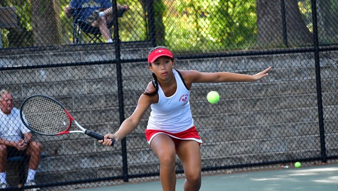 Pompton Lakes junior Charla Lim finished second at first singles in Wednesday's Passaic County Girls' Tennis Tournament. Lim and the Cardinals took second as a team behind 15-time defending champions Wayne Hills.