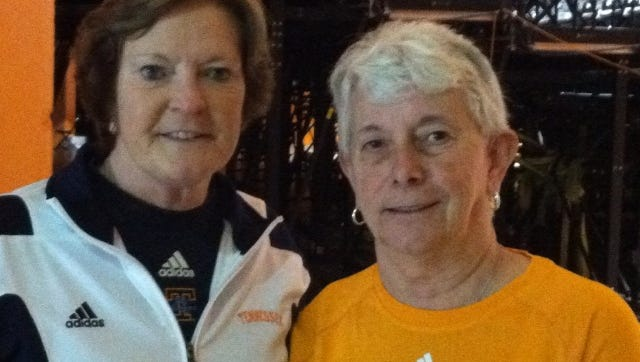 Former Webster Schroeder teacher and coach Judy Shelton, right, worked at seven of Pat Summitt's basketball camps.