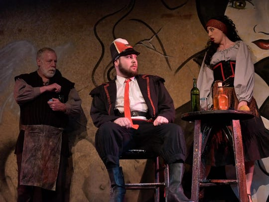 "Starring in the Tri-Cities Opera production of ""The Tragedy of Carmen"" are, from left, William Snyder, Martin Schmidt and Tascha Anderson."