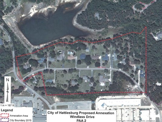 Windlass Drive annexation map