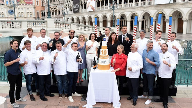 Many of Las Vegas' best chefs gathered for the kick off of the 10th annual Vegas Uncork'd by Bon Appetit festival, including Daniel Boulud, Emeril Lagasse, Francois Payard, Guy Savoy, Brian Malarkey and more.