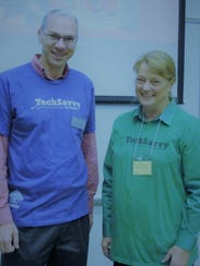 Dale Buske, interim associate dean of Science and Engineering at St. Cloud State, and Minnesota AAUW President Jan Bensen are involved in the Tech Savvy event.