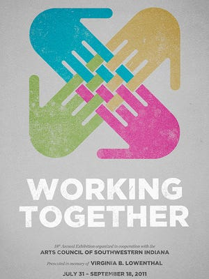 Working Together will be celebrated with many of the participating artists from 6-8 p.m. Thursday at the Evansville Museum.