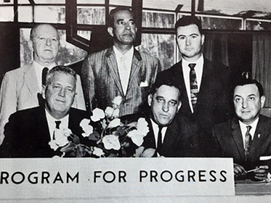 As Alumni Association president from 1958-1959, Saloom