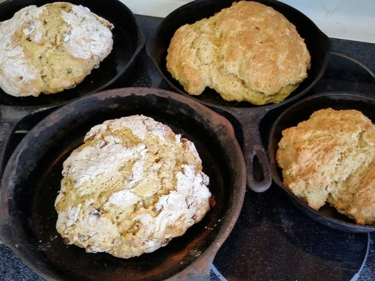 This June 13, 2017 photo provided by Chris Looney shows Irish soda bread baked by Mandy Coriston at her home in Newton, N.J. New Jersey now stands alone as the only state that bars people from selling baked goods they make at home. Coriston is working with a group that is pushing lawmakers in New Jersey to eliminate a ban on selling home baked goods.