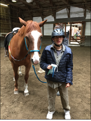 Max Brown, 21, and autistic, benefits from horseback