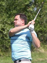 Josh Thomson finds the fairway at Hudson Hills Golf