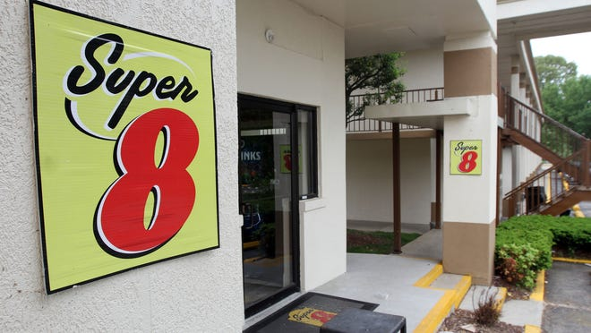 Exterior of the Super 8 in Dover, Delaware. Karen Weissenborn of Barnegat booked a room here, but her reservation was canceled by the hotel, which said it would be closed. But the hotel was still accepting reservations at a much higher rate.