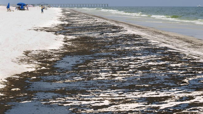 Pensacola Beach is pictured after the Deepwater Horizon oil spill in 2010.