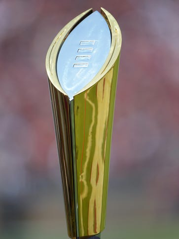 The College Football Playoff trophy is the goal of
