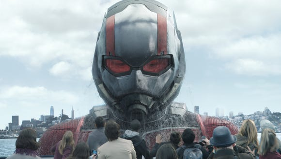 Ant-Man (Paul Rudd) gets big in his Giant-Man form